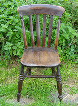KT0383/ Kitchen Chair ~ 1910, Eiche, H 88, B 47, EUR 90,-