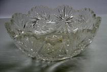 3084/ Kristallschale ~1930, H 7,5, Ø 18,5cm, EUR 30,-