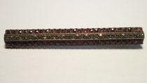 3245/ Granatbrosche ~1910, Silber, 50 Steine, L 5,7cm, EUR 52,-