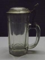 4280/ Bierkrug ~1900, F.Herbolzheimer im Deckel, H 19cm, 0,4 Liter, EUR 56,-