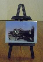 "3291/Minifoto auf Staffelei ""Warszawa""~1900, H 14cm, EUR 24,-"
