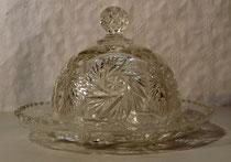 3899/ Käseglocke ~1900, Pressglas, H 17cm, EUR 69,-