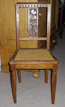 KT0308.K/ Sechs Eichenstühle ~1900, Jugendstil, Rattangeflecht, gut erhalten, H 91, B 42, Sitzhöhe 45 cm, EUR 850,-