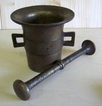 2462/ Mörser ~1900, Bronze, H 11cm, EUR 39,-