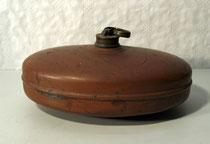 3896/ Wärmflasche ~1900, Kupfer, H 14, L 29, B 20cm, EUR 26,-