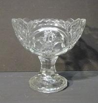 4340/ Bonboniere ~ 1930, Pressglas, Lilienmuster, H 14cm, EUR 22,-