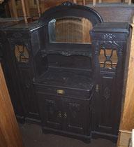 KT0358/ Esszimmer ~1900, Büffet, Vitrine, Ausziehtisch, 6 Stühle, Eiche, EUR 3900,-