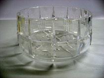 3119/ Kristallschale ~1930, H 9, Ø 17cm, EUR 25,-