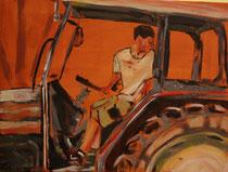 Unverkäuflich, rückwärts, Acryl auf Malkarton, 30 x 40 cm, Susanna Schürch 2013