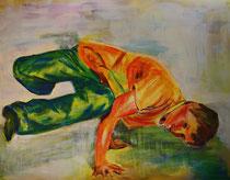 Breakdance I , Acryl auf Papier, 50 cm x 64 cm, Susanna Schürch, 2012