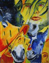Metamorphose, Acryl auf Papier, 50 x 64 cm, Susanna Schürch 2010