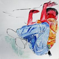 Unverkäuflich,Yeah!, Acryl auf Leinwand, 90 x 90 cm, Susanna Schürch 2013