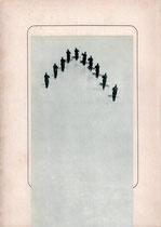 o. T., 2017 (Collage auf Papier, 27 x 19,2 cm)