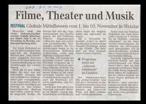 Globale Mittelhessen WNZ 25.10.2013