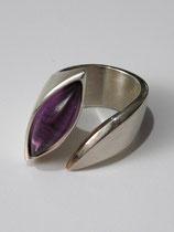 Ring, Silber 925, Amethyst-Cabochon