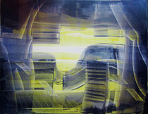 Entering the fourth dimension, oil on canvas, 70cm x 100cm, 2015, contemporary abstract art
