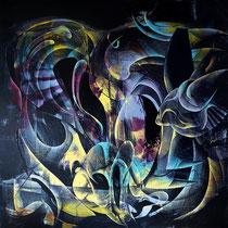 Untitled, 无题 100 x 100 cm, 布面油画 2021 Mauricio Paz Viola