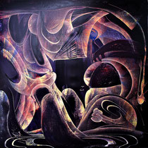 Fleeting 逝, 80 x 80 cm , 布面油画2021 Mauricio Paz Viola