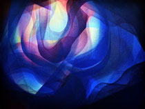 Serenity in blue Acrylic on canvas 30 x 40 cm, 2020