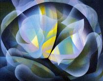 The flowery heart Acrylic on canvas 24 x 30 cm, 2020