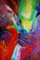 Red dragon, oil on canvas, 2014, contemporary abstract art
