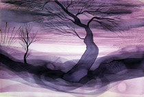 Sublime Trees, watercolor on paper, 2016