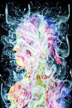 Identity, mixed media on paper, 105 x 76cm, 2018, Mauricio Paz Viola