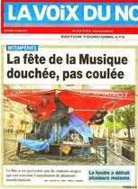 Une de La Voix du Nord 22 juin 2012 Lille