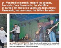 La Voix du Nord Octobre 2011 : Sailly-sur-la-Lys