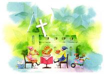 「しばし休憩…お弁当は定番で」~教会をつくろう 5月
