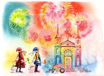 「花火の色に…染まった」~教会をつくろう 12月