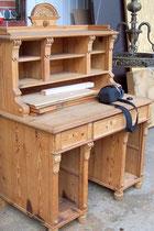 Schreibtisch, Gründerzeit, ca. 1900, gewachst, norddeutsch