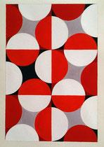 Ellen Roß: Quadratur des Kreises, 2015, Vinyl und Acryl auf Karton, 25 x 35 cm