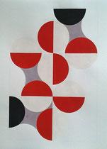 Ellen Roß: Quadratur des Kreises, 2015, Vinyl und Acryl auf Karton, n°2, 50 x 70 cm,