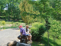 John Wagner and Katheen Ackerman at the Dubuque arboretum
