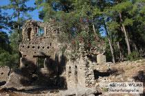 Seleukia, eine abgelegene Ruinenstadt im Wald bei Manavgat, Side, Süd-TÜrkei