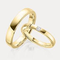 Gelbgold Klassisch Trauringe Hochzeit