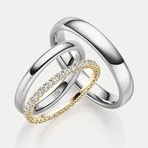 Ring Set Ehering Brillanten