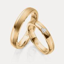 Goldring Ehering einfach klassisch schlicht Stein