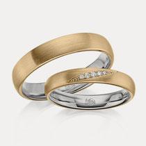 Ringe Axial Zweifarbig Düsseldorf Gold