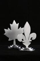 """Fleur-de-Lys or Maple Leaf, 5"""" height, aluminium, 2009 13/28"""