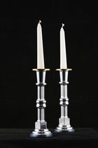"Chandelier 2"" diameter x 7"" height, aluminium and brass, 2006 14/28"
