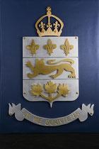 """Quebec Coat of Arms, 18"""" x 24, aluminium brass, 2011 26/28"""