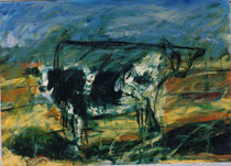 Ole' Jess, 1986. 49.75 x 36 in. Charcoal and oil paint on canvas. #86PA008L