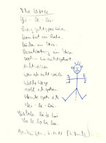 """""""The boxer"""" mit Text zur Serie vom 06.11.2000 / WVZ 3.218 / datiert 6.11.00 / Filzstift und Text auf Papier / Maße b 21,0 cm * h 29,7 cm"""