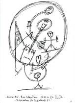 """19. """"Archimedes"""" / datiert 11.07.01 / Bleistift und Filzstift auf Papier / Maße b 21,0 cm * h 29,7 cm / WVZ 3.368"""