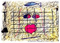"""""""Endstation Sehnsucht"""" Isny, den 23.11.1991, Werkverzeichnis 245, Tusche, Ölkreide und Tinte auf Papier, b 40,0 cm * h 30,0 cm"""