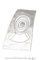 """""""Gestützter Kreislauf"""" / Werkverzeichnis 1.581 / datiert jeweils 16.05.98 / Bleistift auf Papier / Maße b 30,0 cm * h 42,0 cm"""