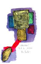 """""""Märzbild I"""" / WVZ 3.698 / datiert T. d. M., 03/04 / Ölkreide und Tinte auf Papier / Maße b 21,0 cm * h 29,7 cm"""