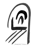 """""""Normalzustand IV"""" / Werkverzeichnis 1.839 / datiert 1999 / Tusche auf Papier / Maße b 22,5 cm * h 29,5 cm"""
